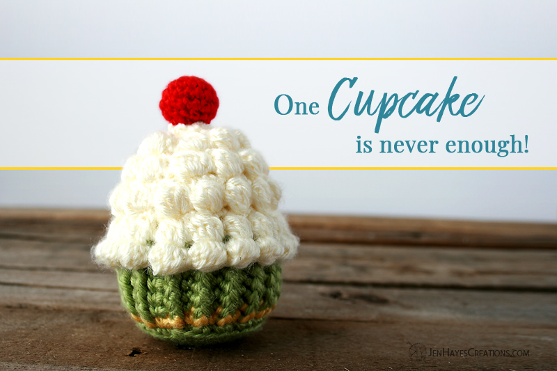 Whip It Up On Top Crochet Cupcake Jen Hayes Creations