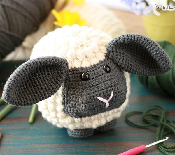 Crochet Bobble Sheep