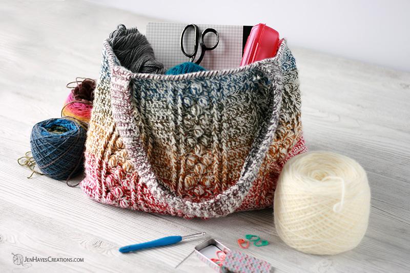 Braided Bobble Crochet Bag