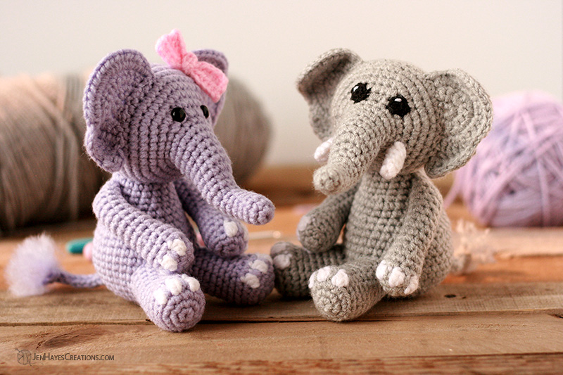 11 Free Crochet Elephant Patterns | 533x800