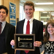 Mock Trial Team Showing Off First Place