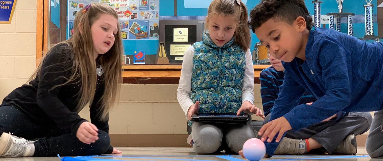 Sphero STEM activity in the ES