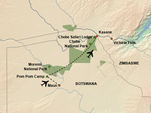 stepmap-karte-best-of-botswana-fly-in-safari-1655643