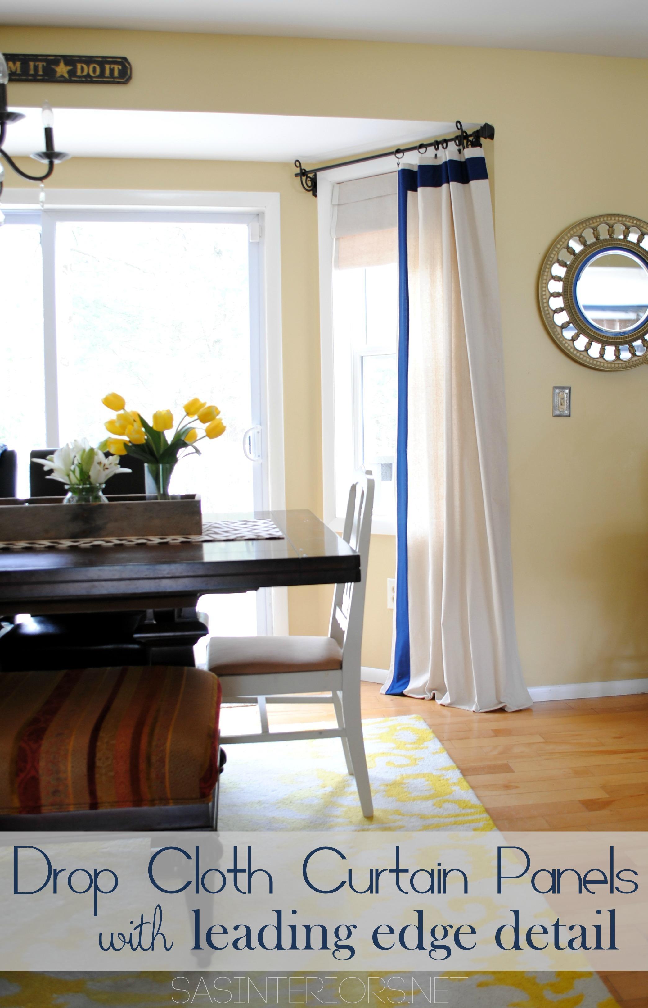 diy drop cloth curtain panels with leading edge detail jenna burger design llc