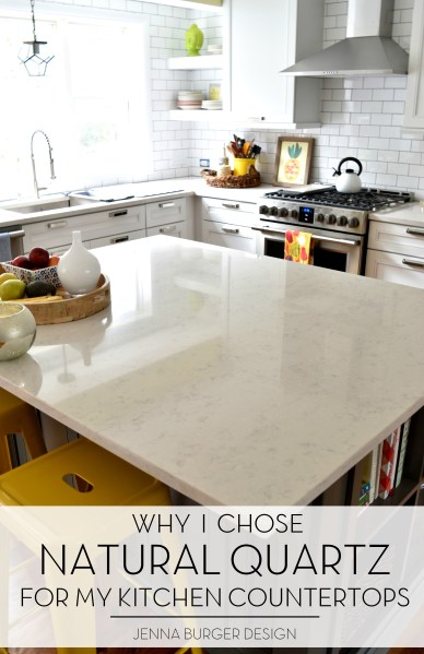 Kitchen Renovation  Choosing a Quartz Countertop   Jenna Burger Natural Quartz countertops in the kitchen was a great choice  It s durable   maintenance free
