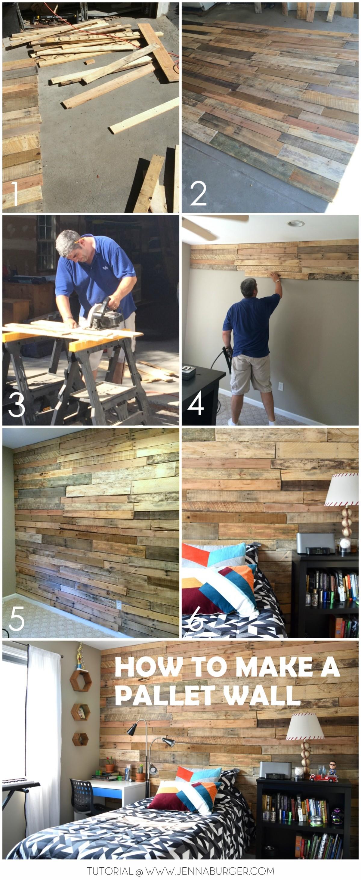 Modern, Rustic Teen Room + DIY Pallet Wall Tutorial ... on Pallet Room Ideas  id=25352