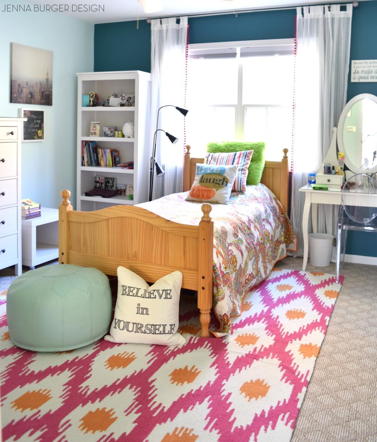 Fuschia + Turquoise Bedroom Makeover - Jenna Burger on Teenage Rooms  id=93245