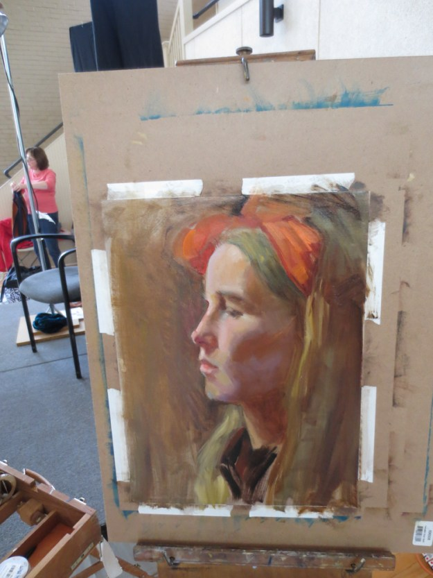 Jenna Citrus Model Daniel Gerhartz Art Portarit Painting Class New Harmoney IndianaIMG_9275