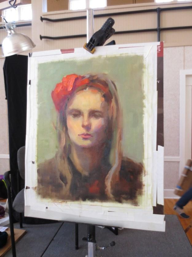 Jenna Citrus Model Daniel Gerhartz Art Portarit Painting Class New Harmoney IndianaIMG_9277