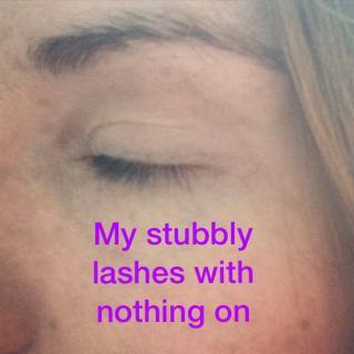 Younique Selfie- Lashes Before