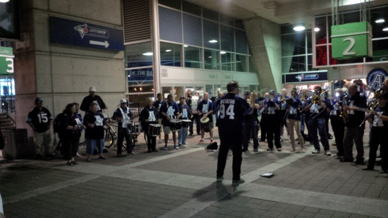 Argonotes outside gate 2 - our traditional post game concert location.