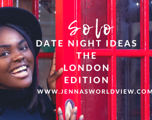 solo date night ideas - the london edition