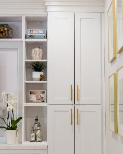 cb2 hexagon hardware built-ins styling neutral home
