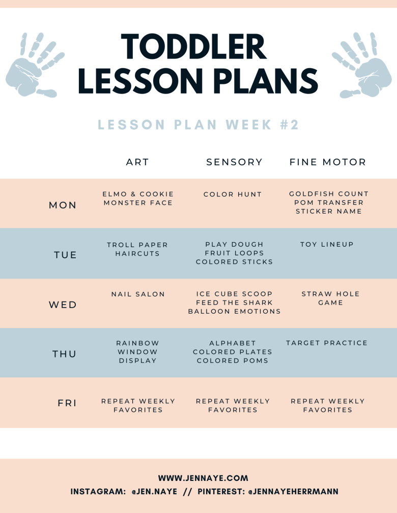 toddler lesson plans and activities