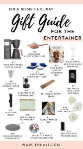 entertaining gift ideas jen and jessies 2020 holiday gift guide