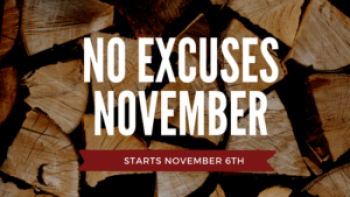 No Excuses November Fitness Challenge