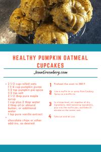 healthy pumpkin oatmeal cupcake recipe