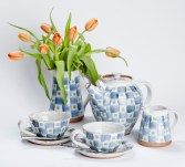 Checked Tea Set