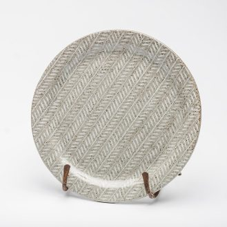 Large white Tweed plate