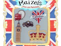 London set of Iron-on Patches