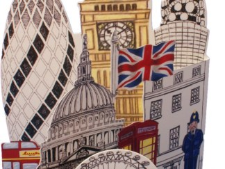 London Pop-up card