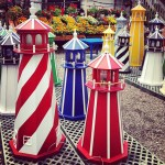 Colored light houses