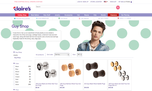 Claire's Store Guy Shop Banner