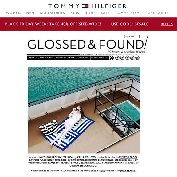 Tommy Hilfiger, Style Editors Eye August 2015
