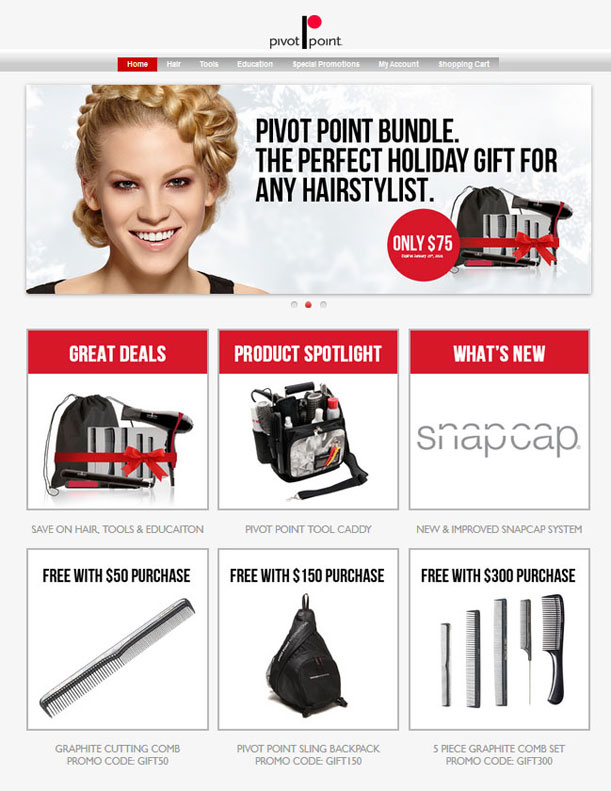 Pivot Point Shop Home page