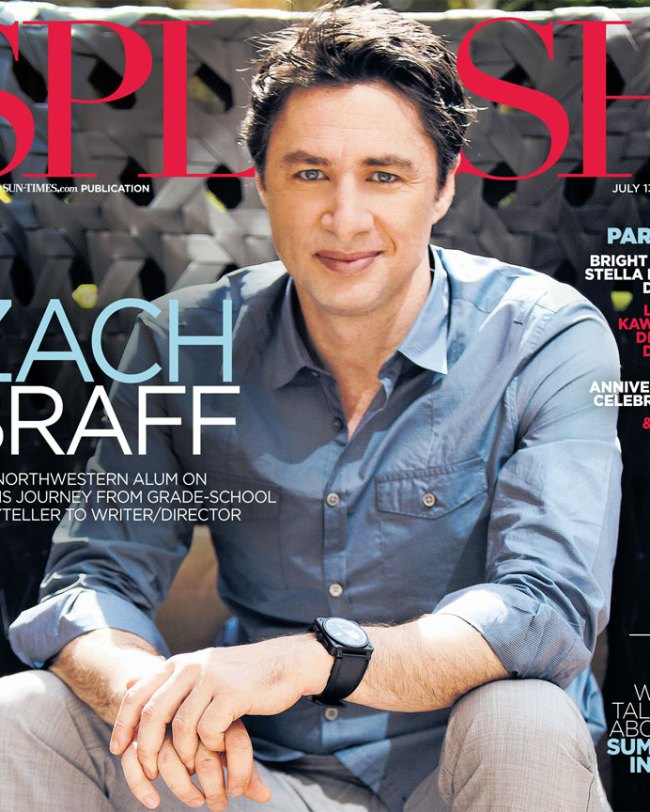 Chicago Suntimes Splash Zach Braff Cover