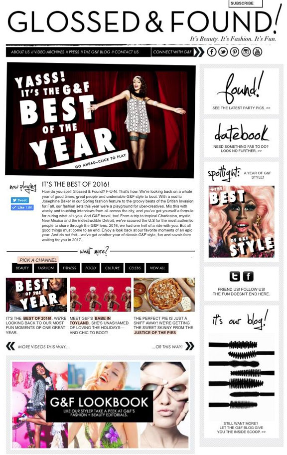 Glossed and Found Best of The Year Issue