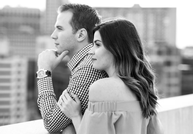 A Stylish Downtown Detroit Engagement Session | Kiley & Daniel