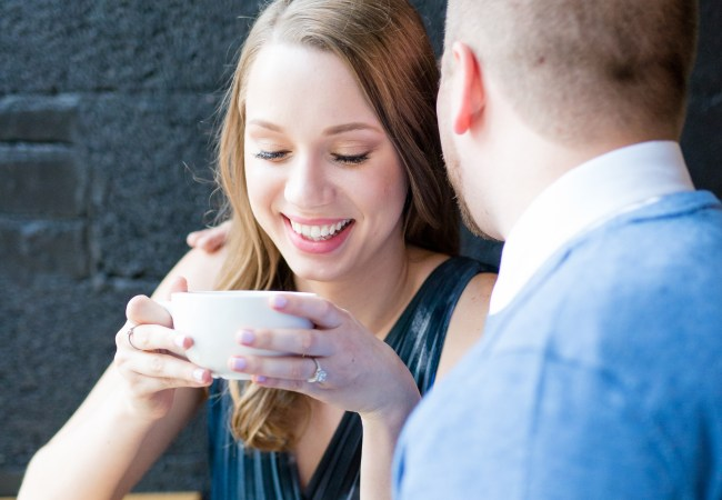Intimate Detroit Coffee Shop Engagement Photos | Delani & Alan