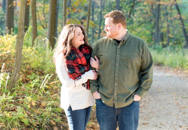 Nichols Arboretum Ann Arbor Engagement Photos | Jeff & Michelle