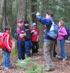 Outdoor Ed was a week-long overnight camp for 5th graders.  The trust walk is where one person is blind folded and you have to hold hands with your partner--a big deal for a young girl!