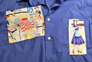 Blue Applique Shirt, Retro Images