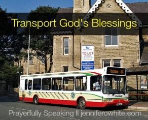 speak blessings from God's word