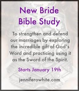 New Bride Bible Study January 19