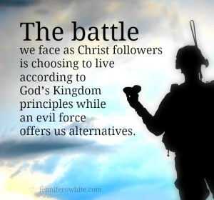 the battle a Christ follower faces