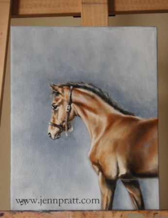 8x10 oil on canvas of filly 'Fleur'