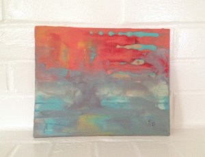 My first Encaustic Painting, from a workshop, 8x10