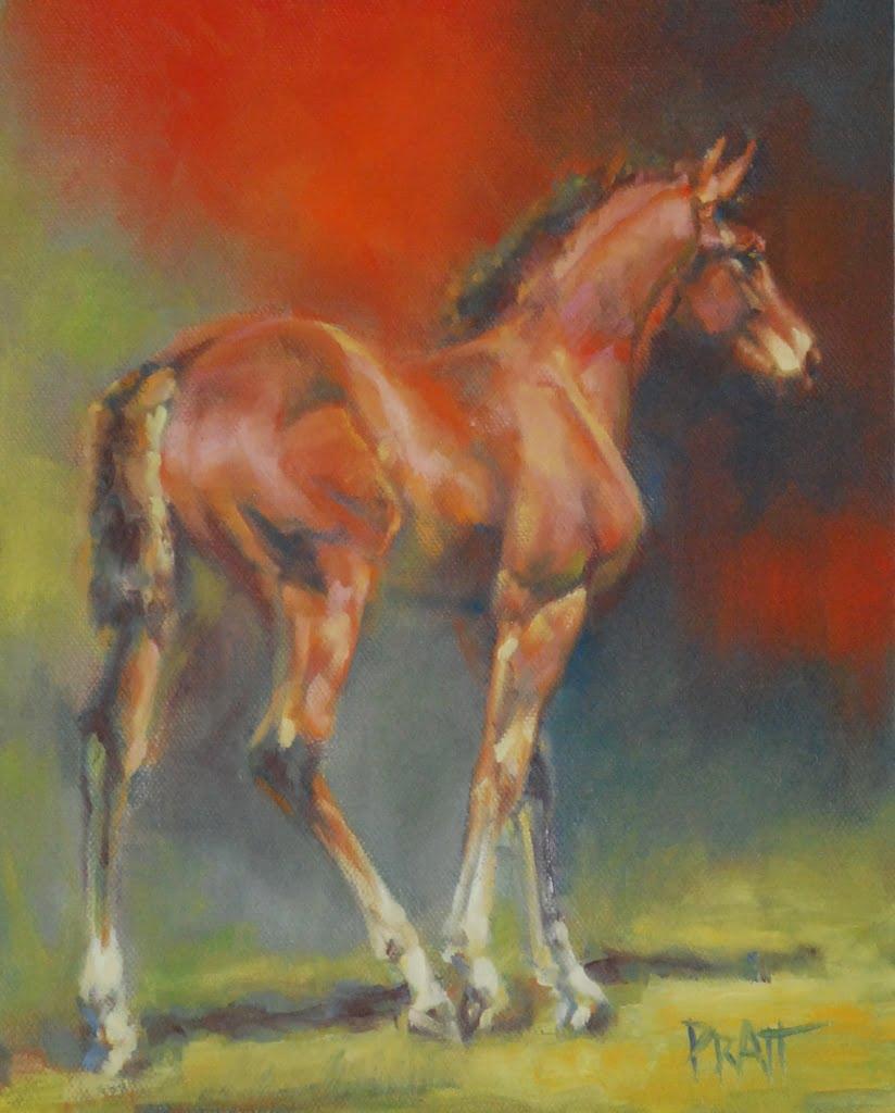 Garnet, 8x10 Oil on Canvas Panel
