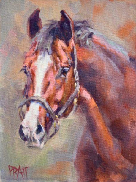 Horse painting, Jennifer Pratt, equine art