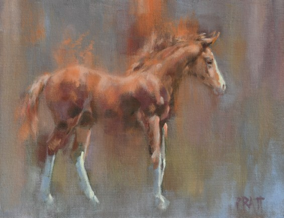 equine art-jennifer Pratt-oil painting-horses-foal