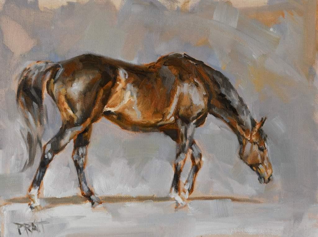 equine art-horse art-oil painting