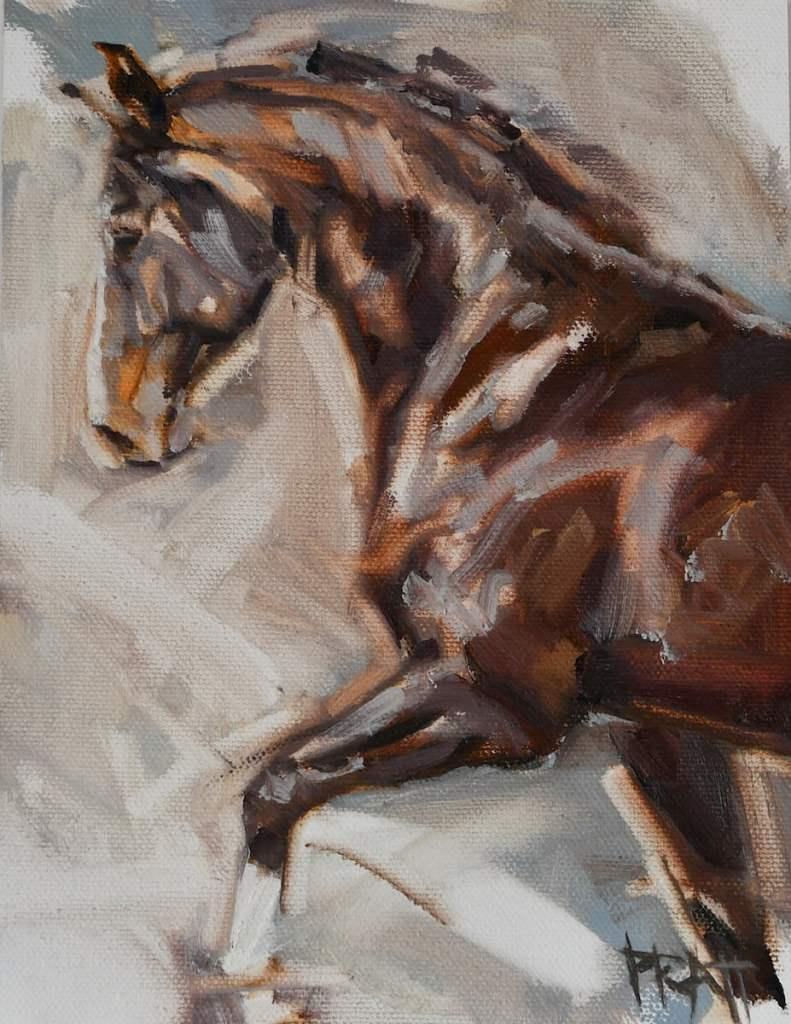 equine-art-oil-painting