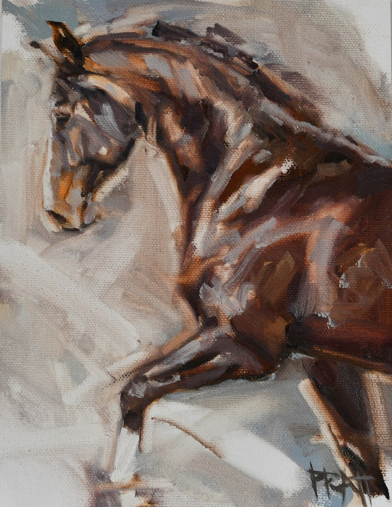 equine-art-oil-painting