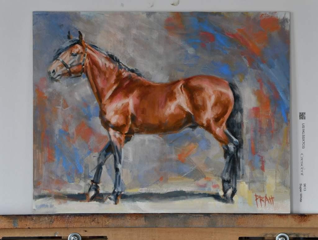 Irish-draught-stallion-oil-painting