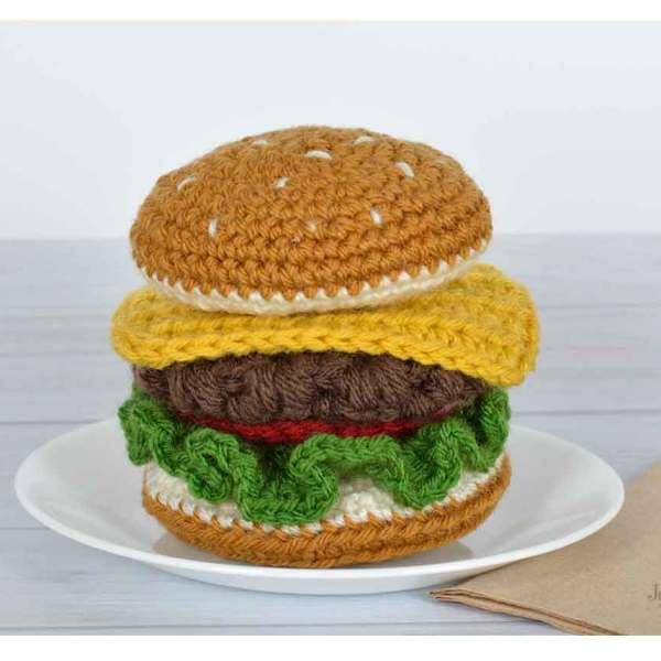 Foodie Crochet Burger
