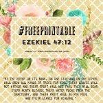 Free Printable Autumn Theme Ezekiel 47:12